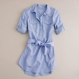 J. Crew Blue Tie Belted Tunic - Small